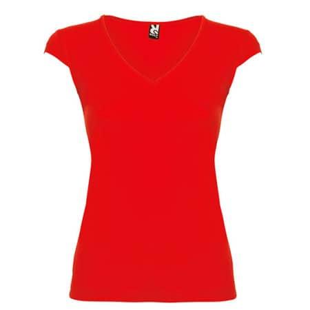 Martinica Woman T-Shirt in Red von Roly (Artnum: RY6626