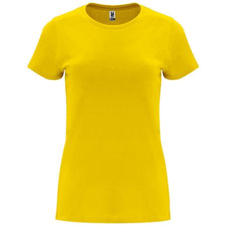 Capri Woman T-Shirt in Yellow von Roly (Artnum: RY6683