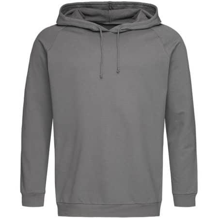Unisex Hooded Sweatshirt in Real Grey von Stedman® (Artnum: S4200