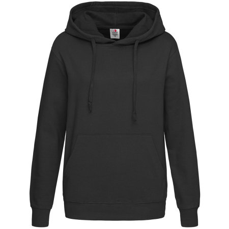 Hooded Sweatshirt for women in Black Opal von Stedman® (Artnum: S421
