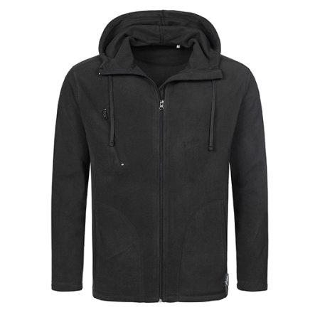 Active Hooded Fleece Jacket in Black Opal von Stedman® (Artnum: S5080