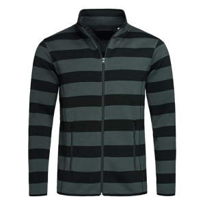 Active Striped Fleece Jacket for men