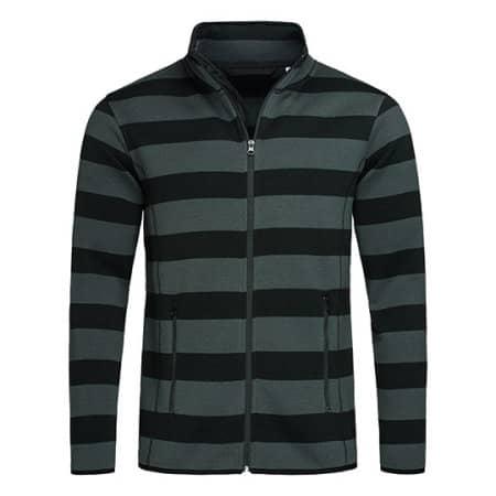Active Striped Fleece Jacket for men von Stedman® (Artnum: S5090