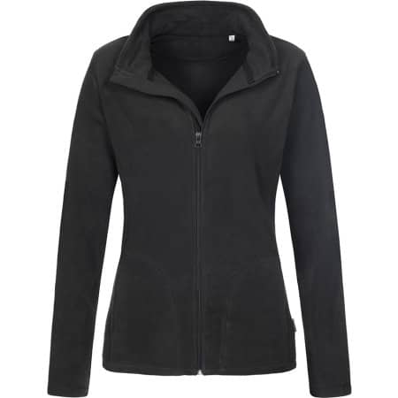 Active Fleece Jacket for women in Black Opal von Stedman® (Artnum: S5100
