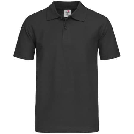 Short Sleeve Polo for children in Black Opal von Stedman® (Artnum: S510K