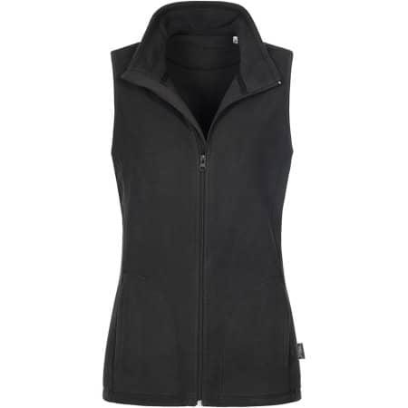 Active Fleece Vest for women in Black Opal von Stedman® (Artnum: S5110