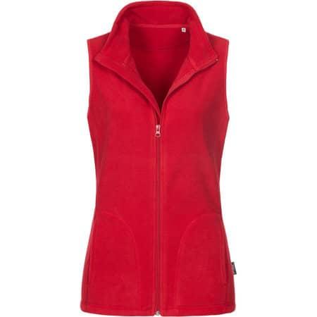 Active Fleece Vest for women in Scarlet Red von Stedman® (Artnum: S5110