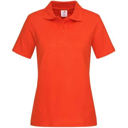 Short Sleeve Polo for women in Brilliant Orange von Stedman® (Artnum: S519