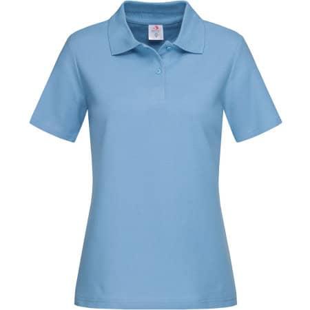 Short Sleeve Polo for women in Light Blue von Stedman® (Artnum: S519