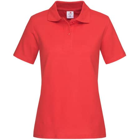 Short Sleeve Polo for women in Scarlet Red von Stedman® (Artnum: S519