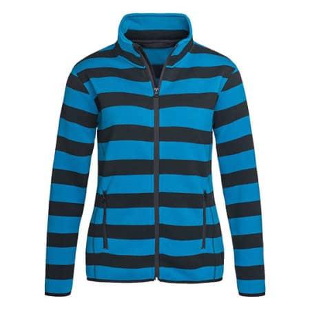Active Striped Fleece Jacket for women von Stedman® (Artnum: S5190