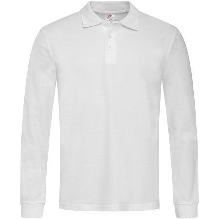 Long Sleeve Polo in White von Stedman® (Artnum: S540