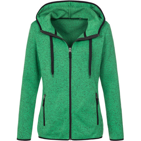 Active Knit Fleece Jacket for women in Green Melange von Stedman® (Artnum: S5950