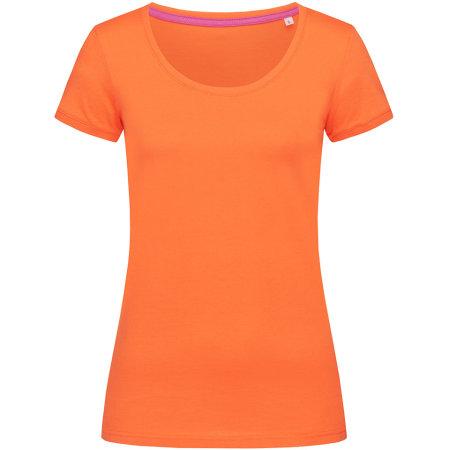Megan Crew Neck for women in Pumpkin von Stedman® (Artnum: S9120