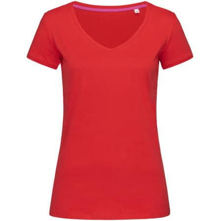 Megan V-Neck for women in Crimson Red von Stedman® (Artnum: S9130