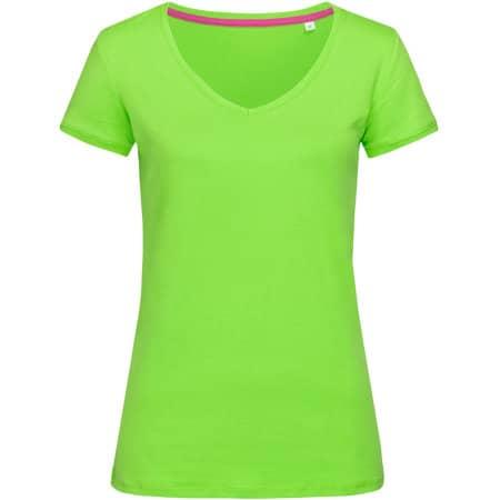Megan V-Neck for women in Green Flash von Stedman® (Artnum: S9130