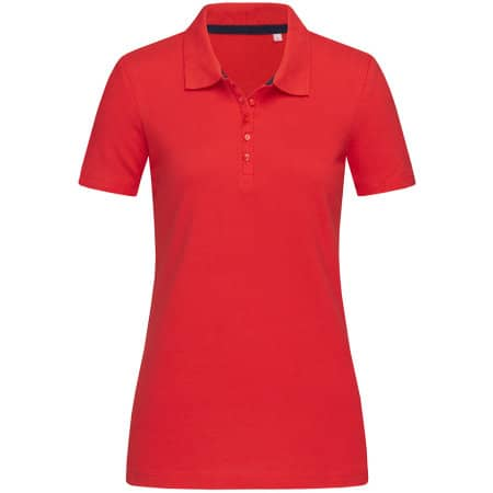 Hanna Polo for women in Crimson Red von Stedman® (Artnum: S9150