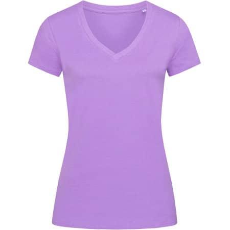 Janet Organic V-Neck for women in Lavender Purple von Stedman® (Artnum: S9310