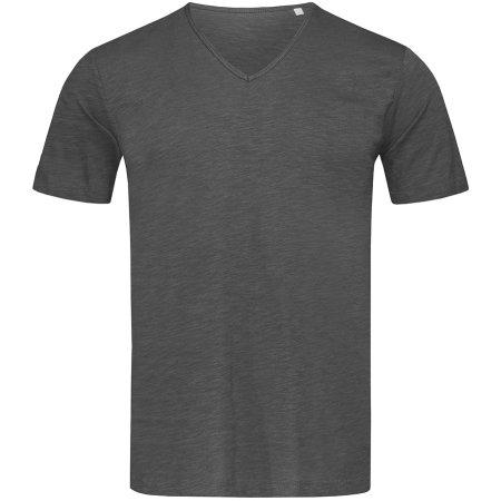 Shawn Slub V-Neck in Slate Grey (Solid) von Stedman® (Artnum: S9410