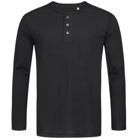 Shawn Henley Long Sleeve T-Shirt for men in Black Opal von Stedman® (Artnum: S9460
