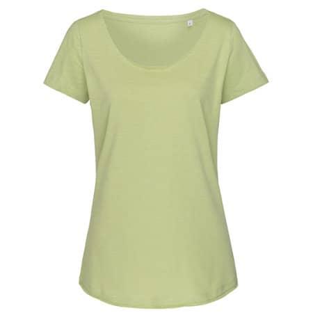 Sharon Oversized Slub Crew Neck for women in Powder Green von Stedman® (Artnum: S9550