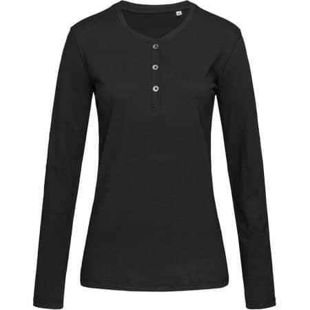 Sharon Henley Long Sleeve for women in Black Opal von Stedman® (Artnum: S9580