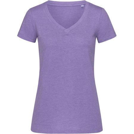 Lisa V-Neck for women in Purple Heather von Stedman® (Artnum: S9910