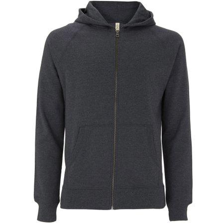 Salvage Unisex Zip Hoodie in Melange Black von Continental Clothing (Artnum: SA41Z