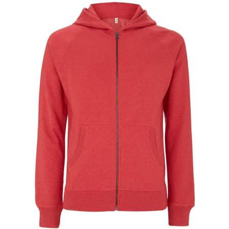 Salvage Unisex Zip Hoodie in Melange Red von Continental Clothing (Artnum: SA41Z