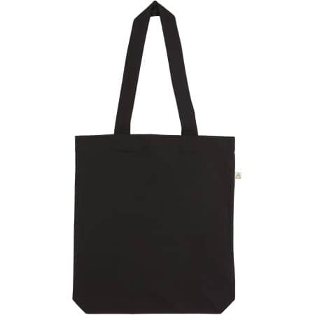 Salvage Recycled Shopper Tote Bag in Black von Continental Clothing (Artnum: SA60