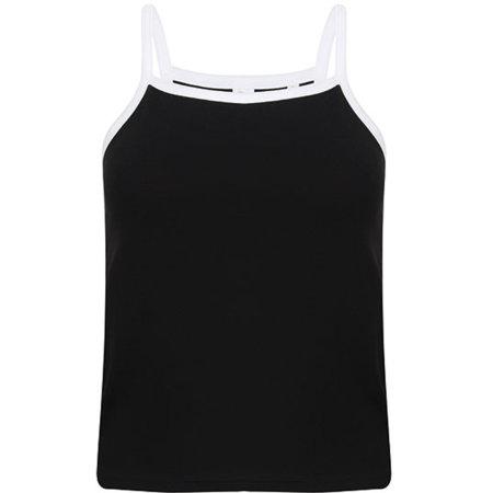 Women`s Feel Good Stretch Contrast Strappy Vest von SF Women (Artnum: SF127