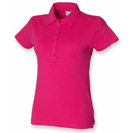 Ladies` Short Sleeved Stretch Polo von SF Women (Artnum: SF42
