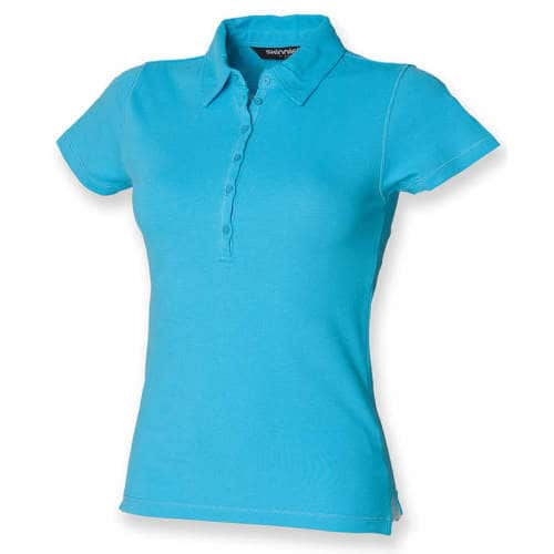 SF Women - Ladies` Short Sleeved Stretch Polo