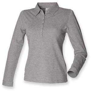 Ladies` Long Sleeved Stretch Polo