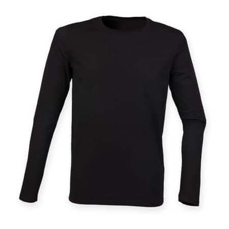 Men`s Feel Good Long Sleeved Stretch T in Black von SF Men (Artnum: SFM124