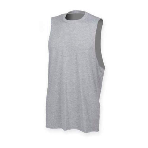 SF Men - Men`s High Neck Slash Armhole Vest