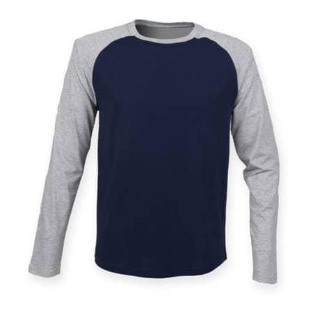 Men`s Long Sleeved Baseball T von SF Men (Artnum: SFM271