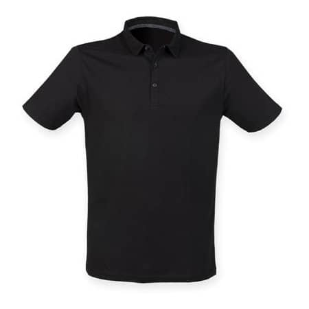 Men`s Fashion Polo in Black von SF Men (Artnum: SFM440