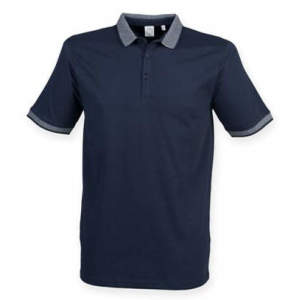 Men`s Fashion Polo mit Jacquard-Kontrast