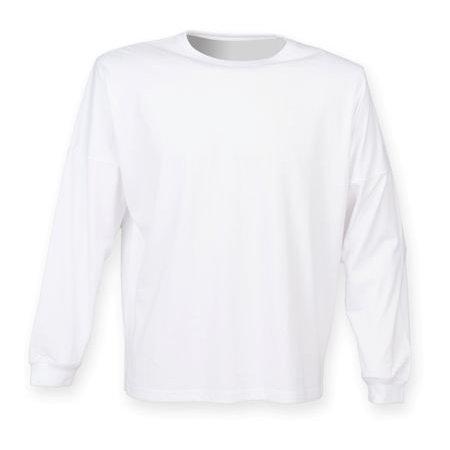Unisex Drop Shoulder Slogan Top in White von SF Men (Artnum: SFM514
