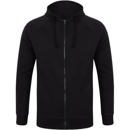 Unisex Slim Fit Zip-Through Hoody in Black von SF Men (Artnum: SFM526