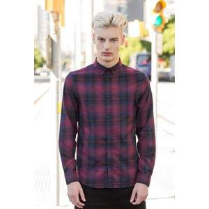 Men`s Brushed Check Casual Shirt