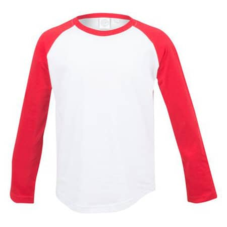 Kids` Long Sleeved Baseball T von SF Minni (Artnum: SM271