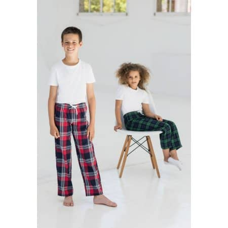 Kids Tartan Lounge Pants von SF Minni (Artnum: SM83