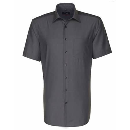 Men`s Shirt Modern Fit Shortsleeve in Anthracite von Seidensticker (Artnum: SN003001