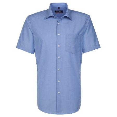 Men`s Shirt Modern Fit Shortsleeve in Midblue von Seidensticker (Artnum: SN003001