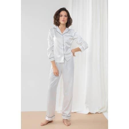 Ladies Satin Long Pyjamas von Towel City (Artnum: TC055