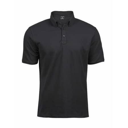 Fashion Luxury Stretch Polo in Black von Tee Jays (Artnum: TJ1410