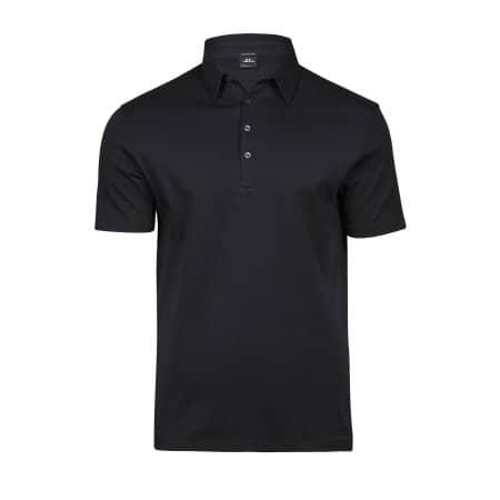 Pima Cotton Polo in Black von Tee Jays (Artnum: TJ1440
