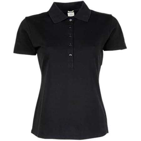 Ladies` Luxury Stretch Polo in Black von Tee Jays (Artnum: TJ145